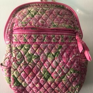 Vera Bradley small backpack Petal Pink pattern
